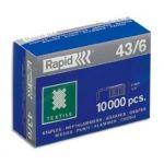 Rapid Caixa 10000 Agrafos 43/6 Textile