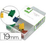 Q-Connect Caixa 6 Molas Metálicas Reversíveis 19mm - KF02035