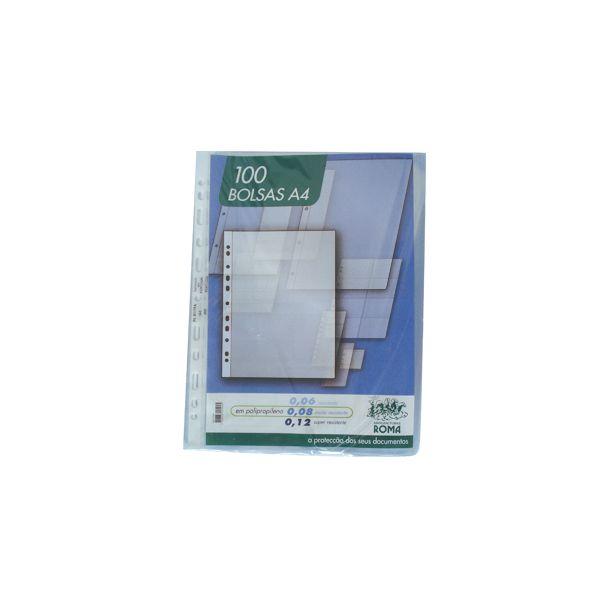 Roma 100 un. Bolsas Catálogo A4 Liso 80mc - ROMA361