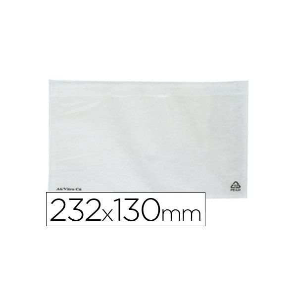 Q-Connect Envelope Auto-adesivo Porta-documentos 232x130mm - KF21727