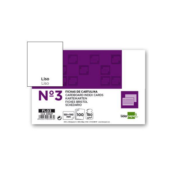 LiderPapel 100 un. Fichas Cartolina 100x150mm Liso - FL03