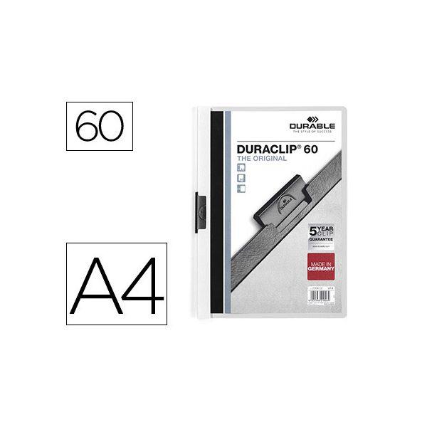 Durable Pasta Dossier A4 c/ Clip 60 Fls White - 2209/02