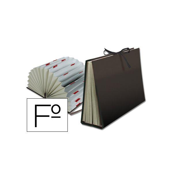Liderpapel Capa Classificadora Cartão Forrado Folio c/ Fole A-Z Black