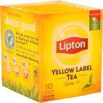 Lipton Chá Preto Yellow Label 10 Saquetas