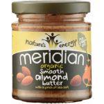 Meridian Foods Manteiga de Amêndoa Suave Organica com sal 170g