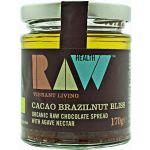 Raw Health Creme de Barrar Orgânico com Cacau e Castanha do Brasil 170g