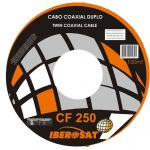 Iberosat Cabo Coaxial Fino Duplo CF250 - Rolo de 100m