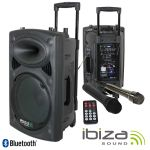 "Ibiza Coluna Amplificada 10"" 500W VHF Black - PORT10VHF-BT"