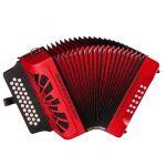 Hohner Concertina El Rey Del Vallenato Red