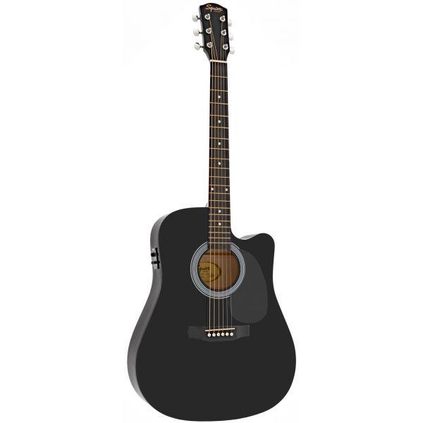 Fender Electro Acoustic Squier SA-105CE Blackc