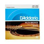 D'Addario Conjunto Cordas EZ910 85/15 Great American Bronze Light 11-52