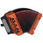 Hohner Concertina Compadre GCF orange