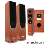 Madison Conjunto 2 Colunas Hifi 2 Vias 120W Madeira - MAD-65WD