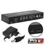 ProK Conversor HDMI - VGA E RGB com Saída Áudio SPDIF - PK-HDMIVGARGB