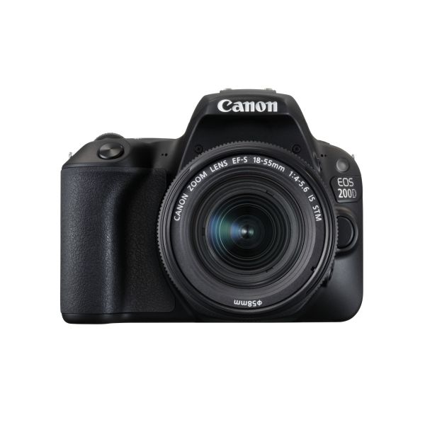 Canon EOS 200D + EF-S 18-55mm f 3.5-5.6 IS STM Black - KuantoKusta decc7ef46582