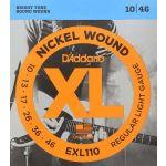 D'Addario Jogo Guitarra Elétrica EXL110 010-046