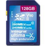 Integral 128GB UltimaPro X2 SDHC/XC V90 UHS-II Class 10 - INSDX128G-280/240U2