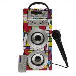 Biwond Coluna Bluetooth JoyBox Karaoke Picasso