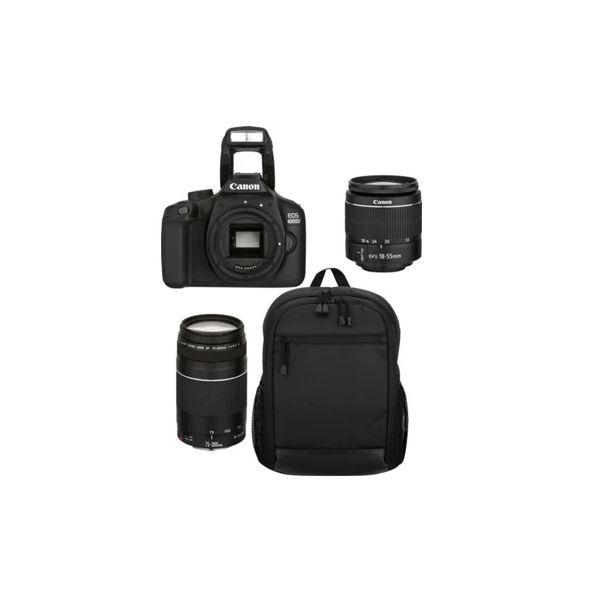 Canon EOS 4000D + 18-55mm f/3.5-5.6 EF-S IS II + 75-300mm f/4-5.6 EF III Black