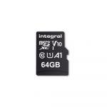Integral 64GB Micro SDXC UHS-l U1 100MB/s + Adapter - INMSDX64G100V10