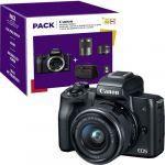 Canon EOS M50 + EF-M 15-45mm f/3.5-6.3 IS STM + EF-M 55-200mm f/4.5-6.3 IS STM + Bolsa + Cartão SD Pack Fnac