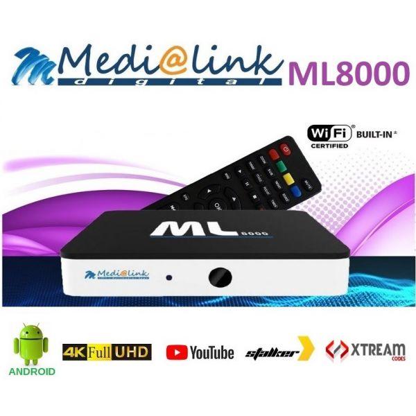 Medialink Receptor IPTV UltraHD 4K ML8000 Set Top Box