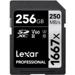 Lexar 256GB SDXC Professional UHS-II U3 V60 Class 10 (1667x) - LSD2561667X