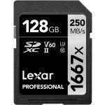 Lexar 128GB SDXC Professional UHS-II U3 V60 Class 10 (1667x) - LSD1281667X