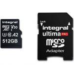Integral 512GB Micro SDXC Ultima Pro A1 U3 + Adapter - INMSDX512G10080V30