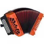 Hohner El Rey Del Vallenato Orange Fa/La#/Re#