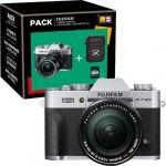 Fujifilm X-T20 Silver + XF 18-55mm f/2.8-4 R LM OIS Silver + Bolsa + Cartão SD Pack Fnac