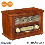 Madison Rádio Portátil Fm Bt LED Vintage