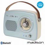 Madison Rádio Fm/Aux/Bt/mp3 Bat Extra Bass Vintage 30w