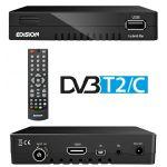 Edision Receptor Digital Terreste TDT DVB-T2 + Cabo DVB-C FullHD Progressiv Hybrid Lite