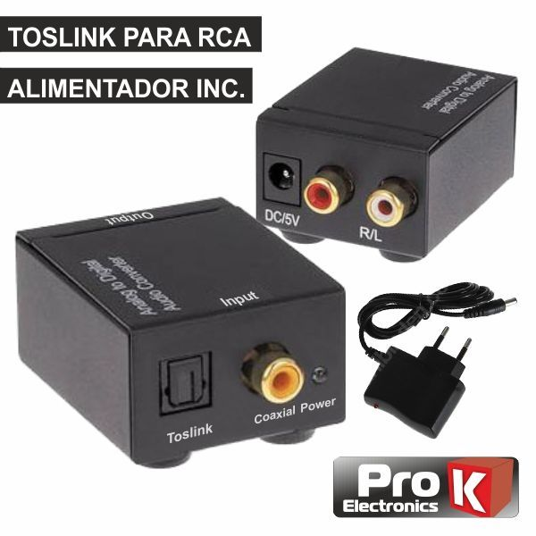 Prok Conversor Audio Toslink-rca - PK-OPCOAX