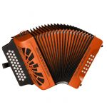 Hohner Concertina El Rey Del Vallenato Orange