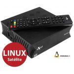 Axas Receptor Satélite DVB-S2 Twin E2 H.265 Full HD Enigma 2