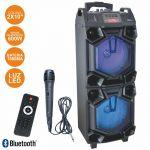 "INOVALLEY Coluna Bluetooth Portátil 2X10"" 600W Usb/bt/aux/bat led Rgb - HP53XXL"