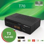 Amiko Receptor TDT FullHD DVBT-2 com Display/Botões Frontais T70