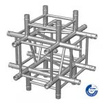 Adam Hall Truss QUA 2 0790 - 4-point Truss 5-way corner element X with down leg incl. Set of connectors SQUA20790
