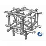 Adam Hall Truss QUA 2 0690 - 4-point Truss corner element X with down leg incl. Set of connectors SQUA20690