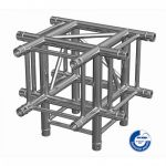 Adam Hall Truss QUA 2 0490 - 4-point Truss T element with down leg incl. Set of connectors SQUA20490