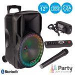 """Party Coluna Amplificada 12"""" USB/FM/BT/SD/BAT VHF PRETA 700W"""