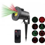 Well Projector Laser c/ Efeitos Natal 5W p/ Exterior c/ Comando (Vermelho/Verde) - LSRRG8