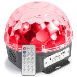 Max Projector de Efeito e Coluna MP3 RGB LED 6 x 1W MAGIC JELLY DJ - 153.228
