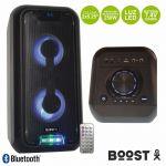 "Boost Coluna Amplificada 2x5.25"" 250w Usb/bt/bat LED"