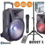 """Boost Coluna Amplificada 12"""" 600w Usb/bt/sd Suporte/micro"""