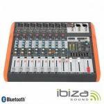 Ibiza Mesa De Mistura MX802 8 Canais 6 Entradas USB/BT/Gravação