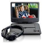 "Lenco Leitor de DVD Portátil + Auscultadores Wireless DVP 947 9"" Black - DVP947"