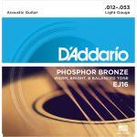 D'Addario Jogo Cordas Guitarra Acústica EJ-16